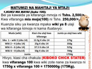 chicken management swahili 009 300x225 Ufugaji wa kuku: Namna ya kuanza na mchanganuo wa mapato na matumizi