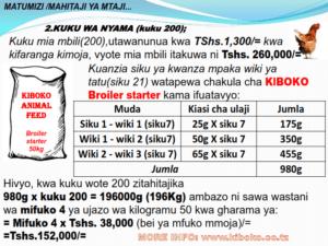 chicken management swahili 019 300x225 Ufugaji wa kuku: Namna ya kuanza na mchanganuo wa mapato na matumizi