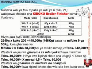 chicken management swahili 020 300x225 Ufugaji wa kuku: Namna ya kuanza na mchanganuo wa mapato na matumizi