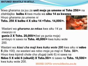 chicken management swahili 021 300x225 Ufugaji wa kuku: Namna ya kuanza na mchanganuo wa mapato na matumizi