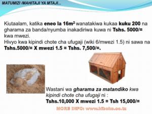 chicken management swahili 022 300x225 Ufugaji wa kuku: Namna ya kuanza na mchanganuo wa mapato na matumizi