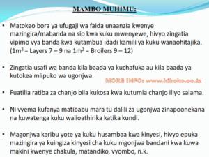 chicken management swahili 025 300x225 Ufugaji wa kuku: Namna ya kuanza na mchanganuo wa mapato na matumizi